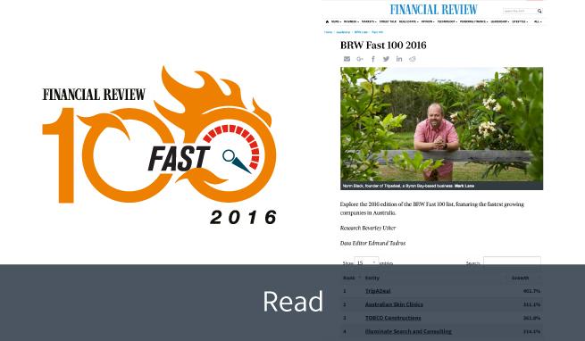 2016 BRW Fast 100