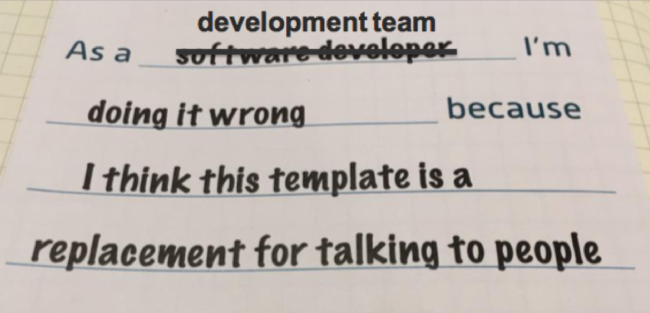 As a development team I'm doing it wrong