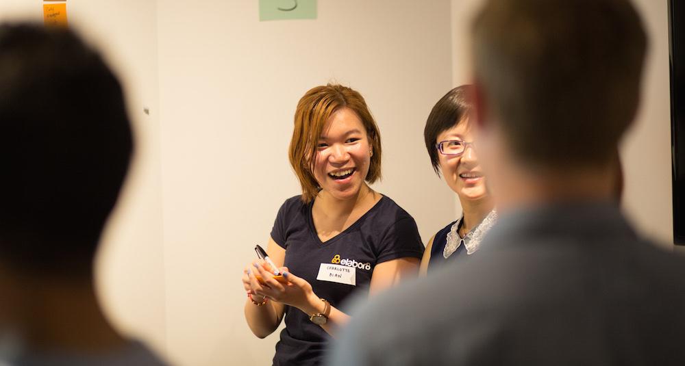 Workshop Icebreaker: Randomised questions Laughing shot of Charlotte