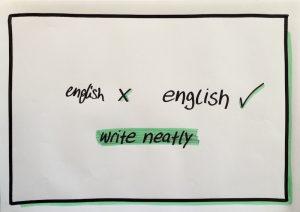 Visualisation write neatly