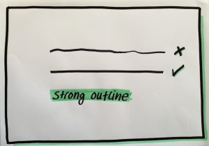 Visualisation strong outline