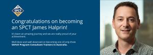 Congratulate James Halprin on becoming an SPCT